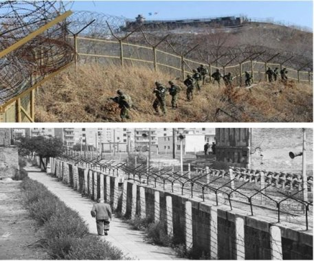 Berlin Wall and Korean border - command economy image