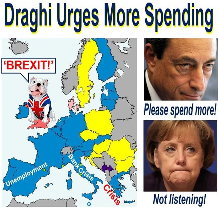Mario Draghi urges more spending