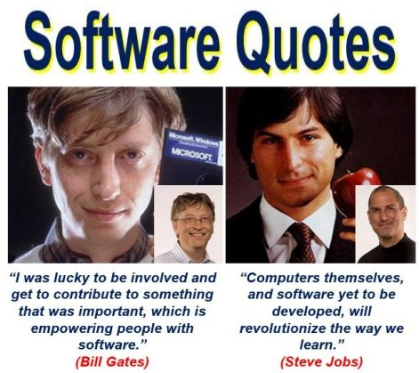 Bill Gates and Steve Jobs software quotes