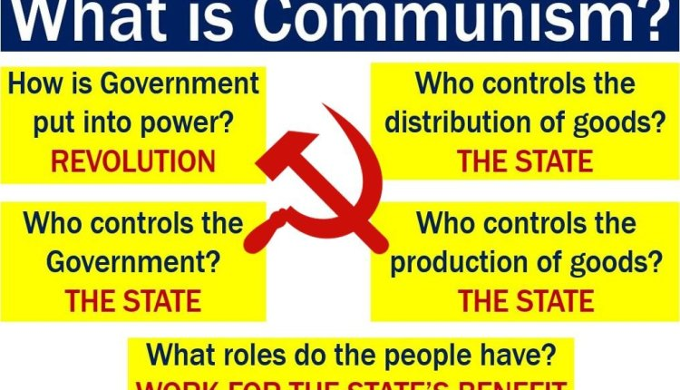 Communism – features listed in image