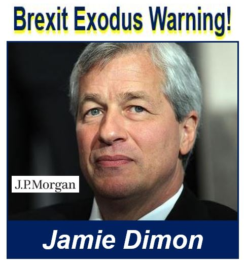 Jamie Dimon Brexit exodus warning