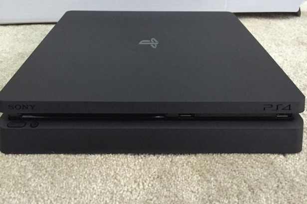 Is this what the PlayStation 4 'Slim' will look like? Pictures have already leaked online of what's thought to be the new version of the PS4. Photo credit: Gumtree