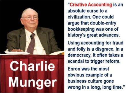 What Charlie Munger said about creative accounting