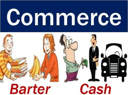 Commerce barter or cash - image