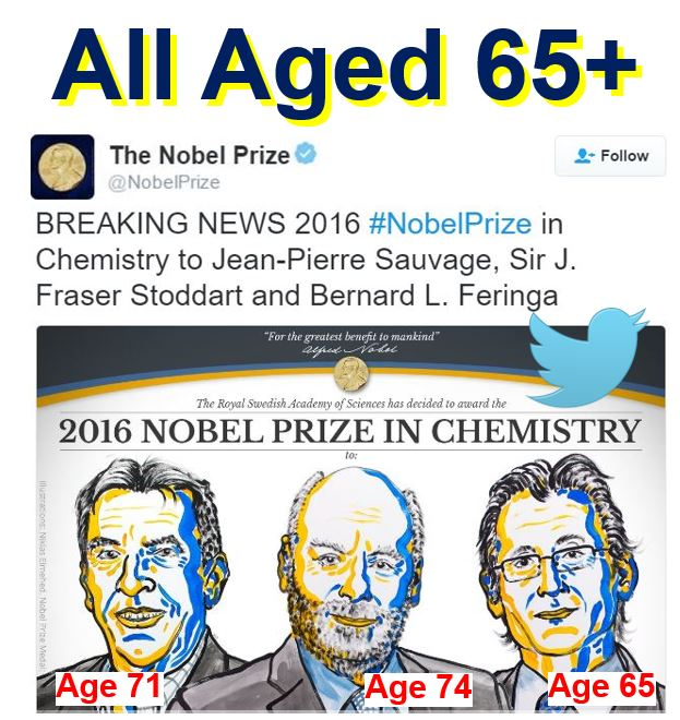 Nobel Prize winners in Chemistry aged at least 65