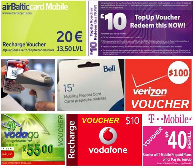 Mobile phone voucher
