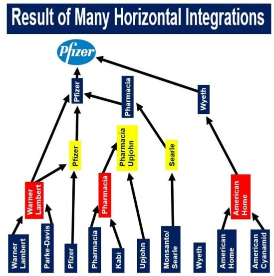 Pfizer result of horizontal integration