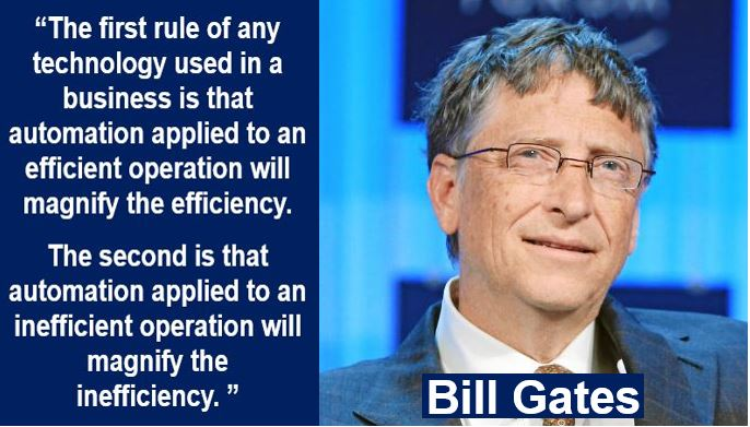 Bill Gates automation quote