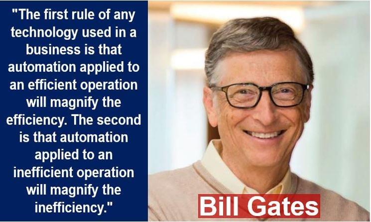 Bill Gates - new economy quote
