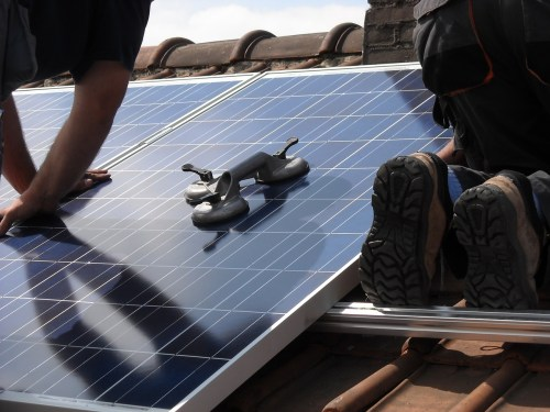 carbon gap installing solar panels