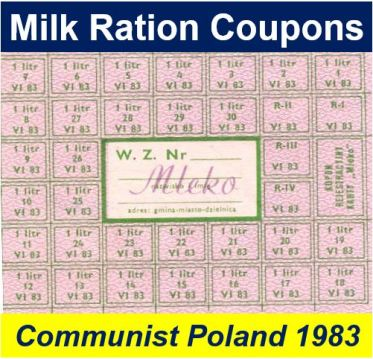 Milk rationing communist Poland