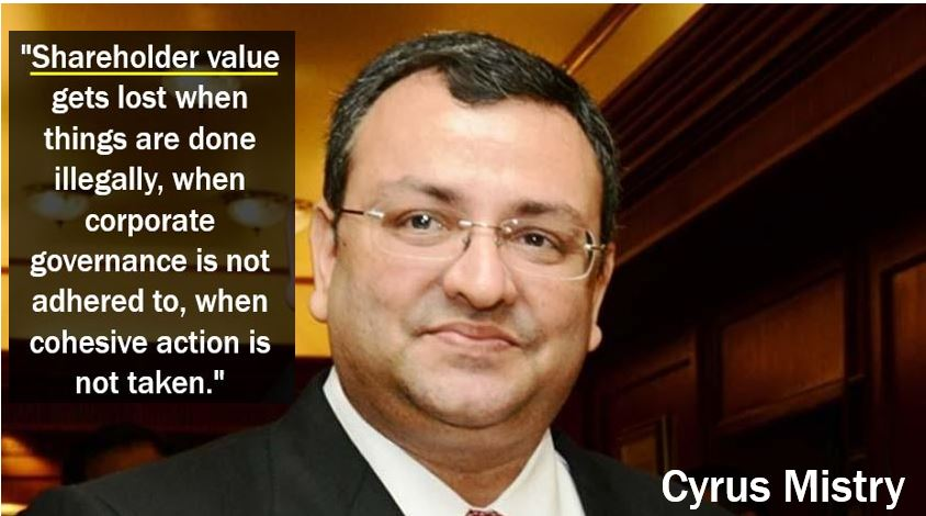 Cyrus Mistry shareholder value quote