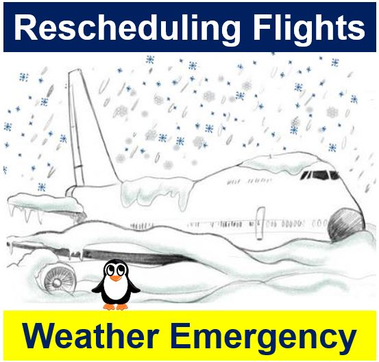 Rescheduling flights - weather emergency