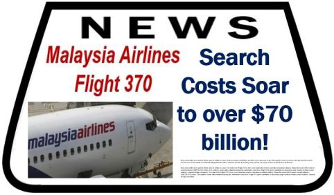Search Costs for lost airliner