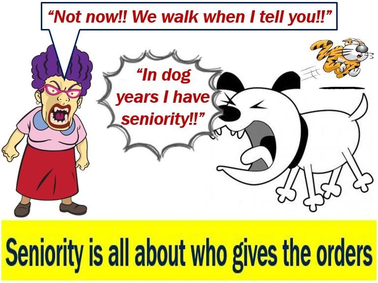 Seniority is about who gives the orders