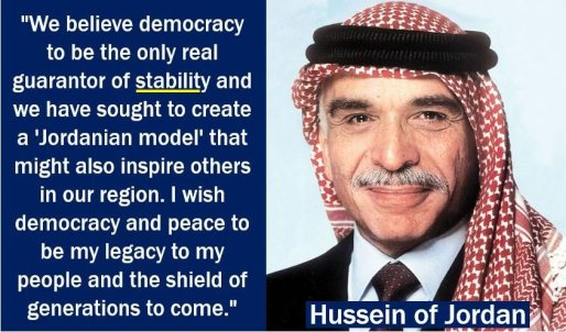 Hussein of Jordan - Stability quote