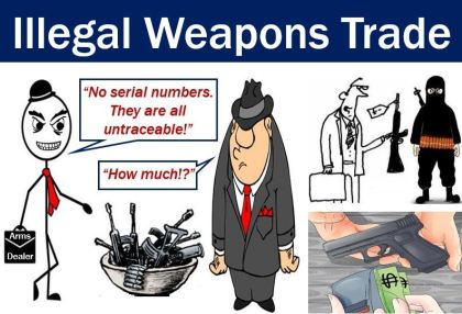 Illegal weapons trade - underground economy
