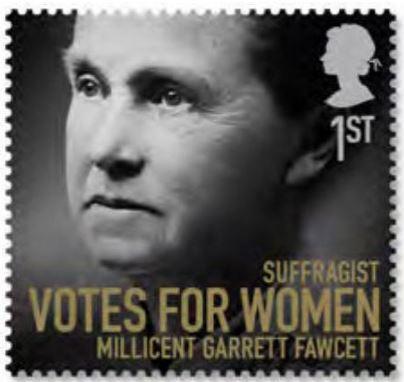 Millicent Fawcett postage stamp