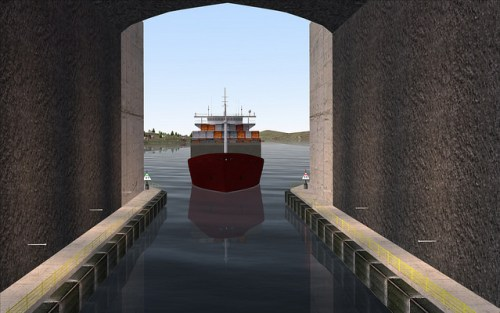 ship tunnel cargo vessel credit Kystverket