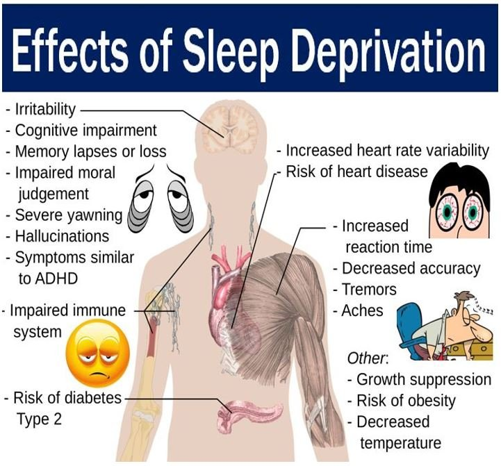 Effects of sleep deprivation on humans