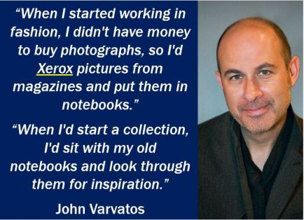 John Varvatos - Xerox quote