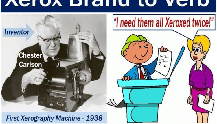 Xerox brand to verb