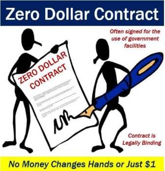Zero dollar contract