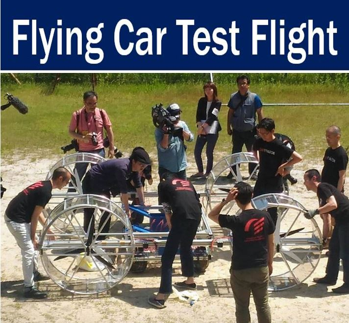 Flying car test flight