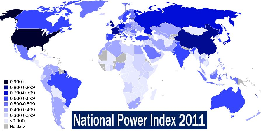 Most powerful countries - National Power Index 2011