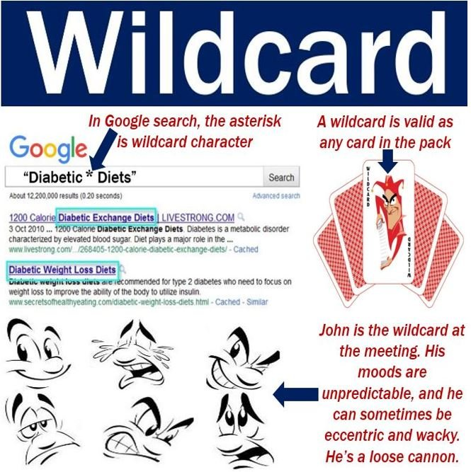 Wildcard - three meanings