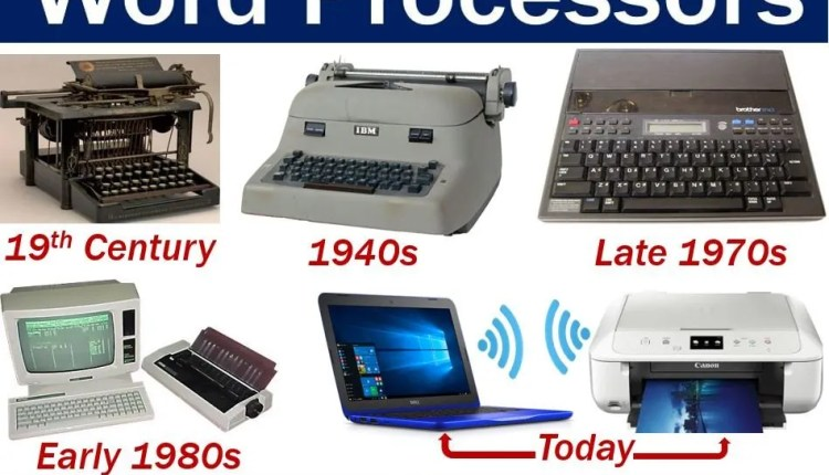 Word Processor has been around a long time
