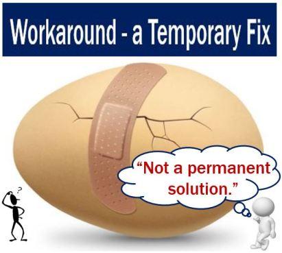 Workaround - a temporary fix