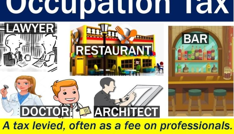 Occupation tax - image with explanation and examples