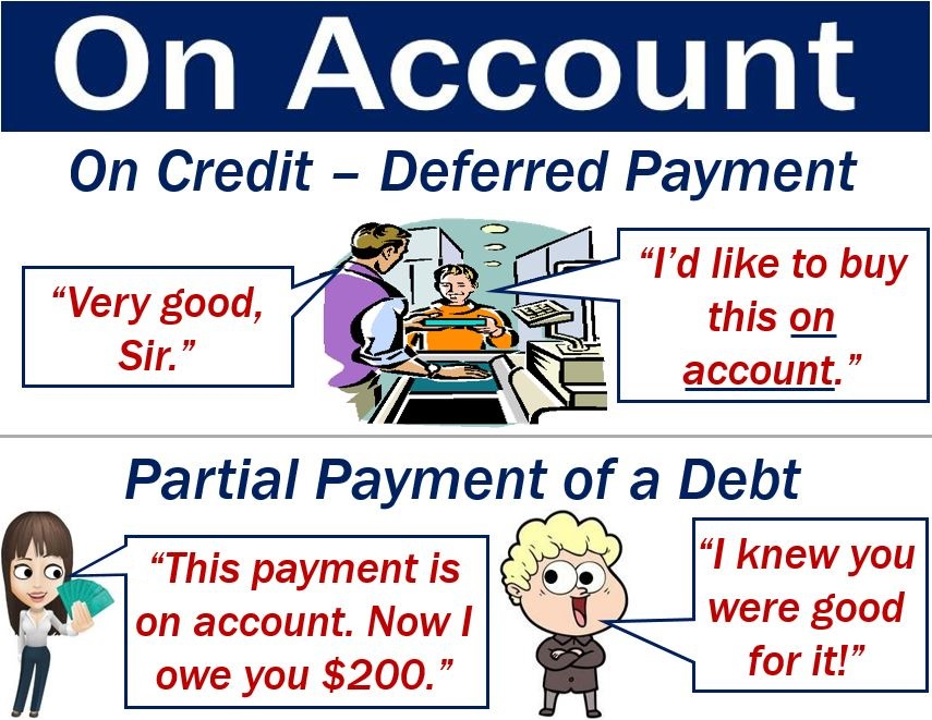 On account - image with two definitions