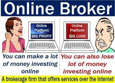 Online broker - image explaining meaning