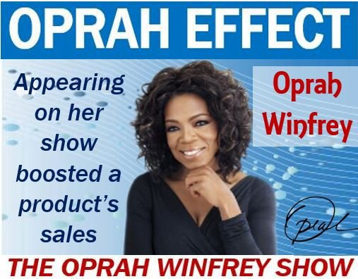 Oprah Effect – image with explanation