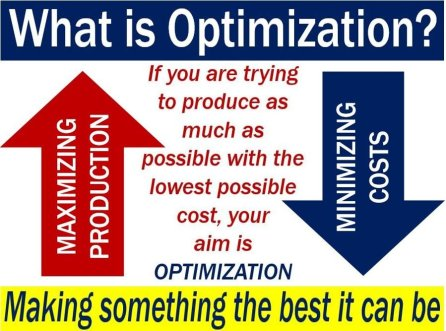 Optimization - definition and meaning