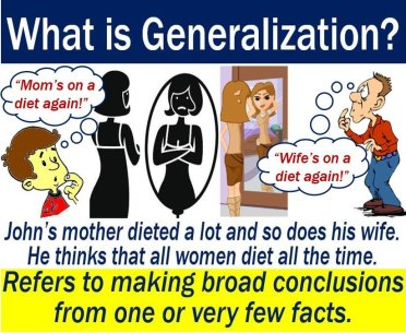 Generalization - definition and example