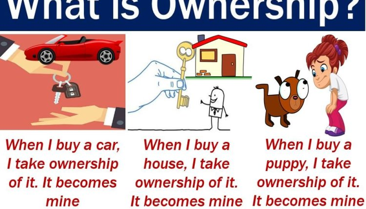 Ownership - image with definition and examples