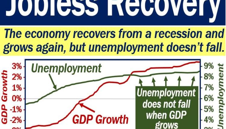 Jobless recovery definition and graph