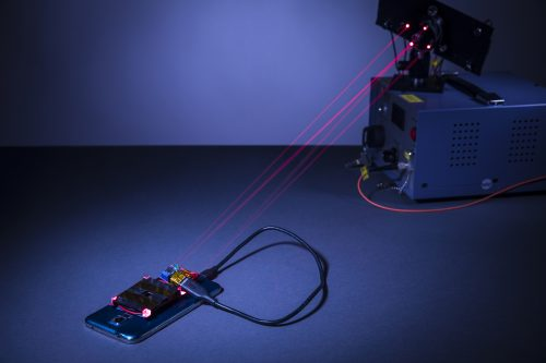 wireless charging smartphone with laser beams