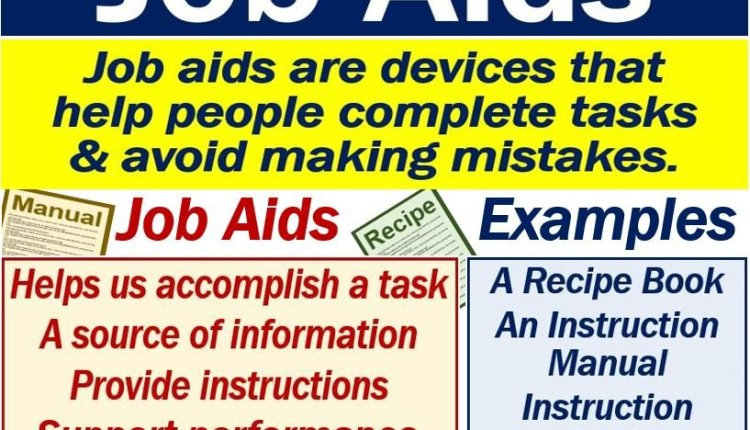 Job Aids - definition and examples
