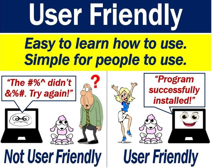 User-Friendly - definition and example