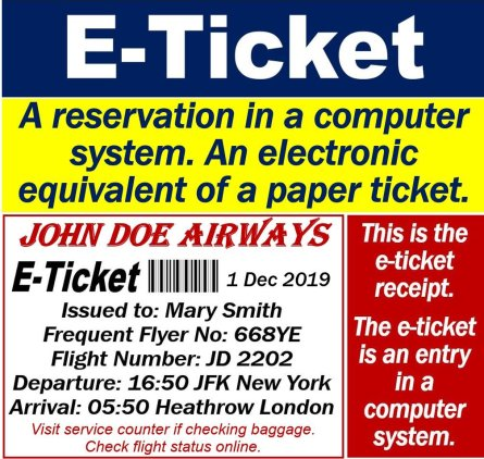E-Ticket - Electronic Ticket