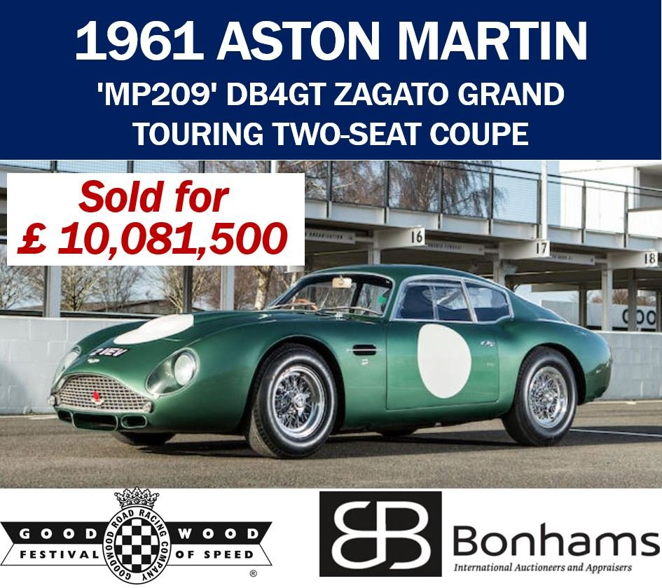 Aston Martin sold for over 10 million