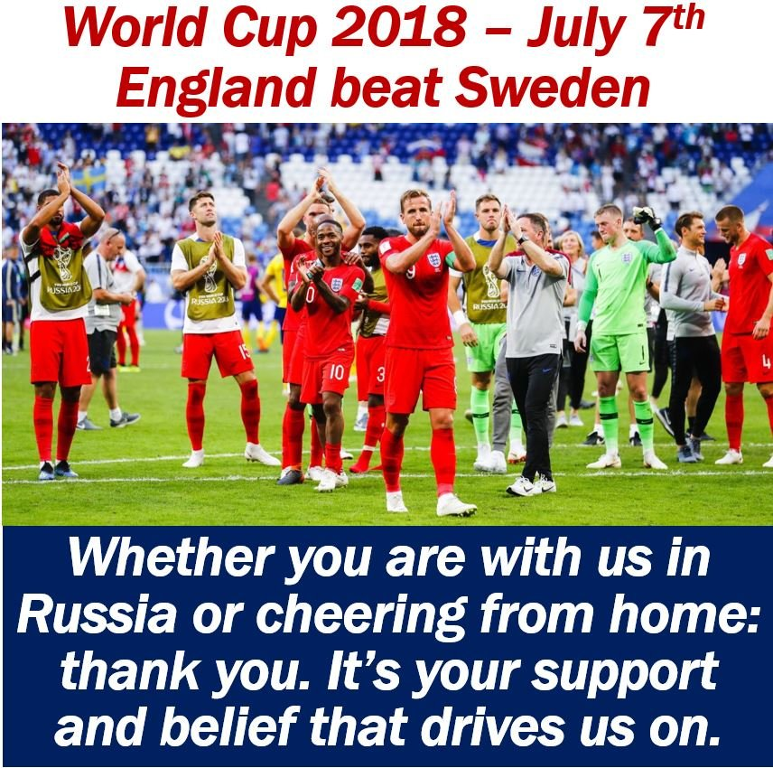 World Cup 2018 - End of England vs Sweden Match