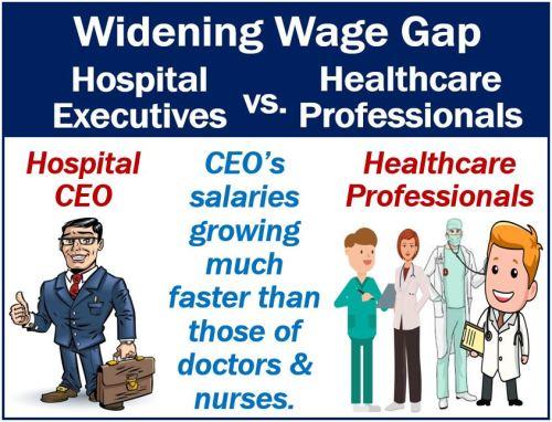 Hospital executives versus healthcare professionals - wage gap
