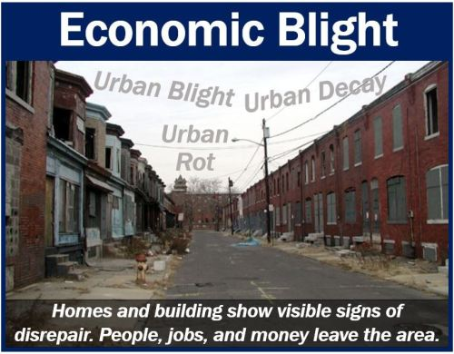 Example of economic blight