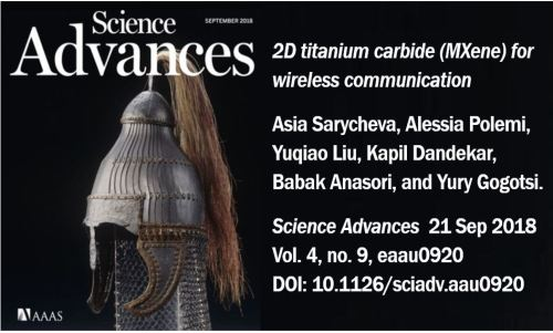 Spray-on antennas article in Science Advances