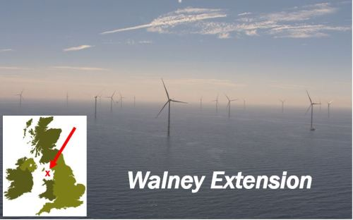 Walney Extension - giant offshore wind farm UK
